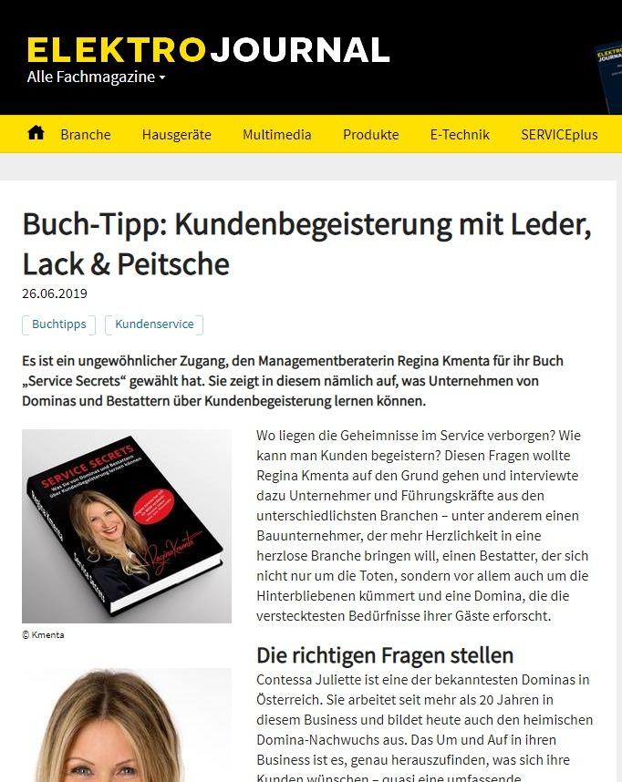 Buch Tipp Kundenbegeisterung Mit Leder Lack Peitsche Elektrojournal